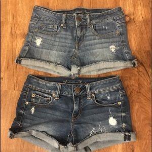 2 pair AE shorts